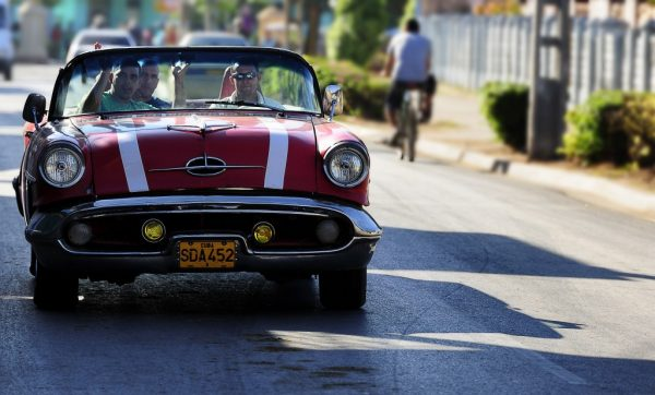 red cars from cuba