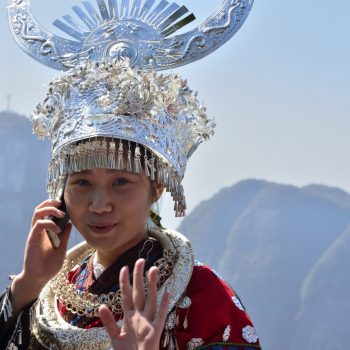 cellphone in new-china-just a moment i have to call