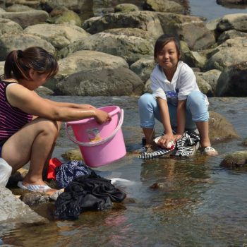 family washing day-road trip in china - pictures by albi