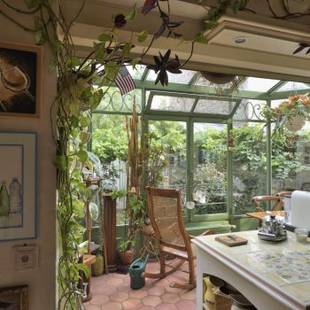my wife has a green hand - help! - view from the kitchen to the garden