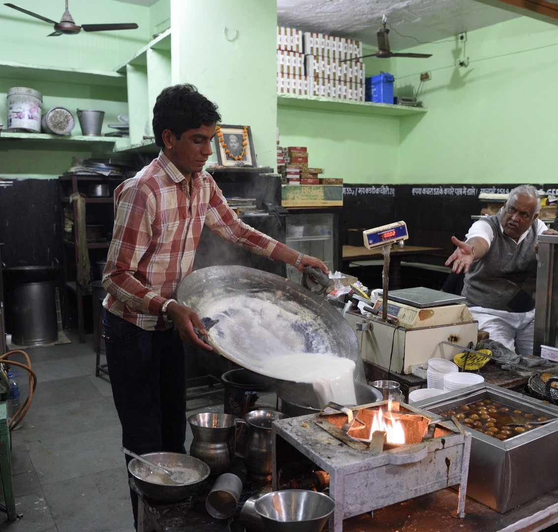 living india: steetfood the boss don't look satisfied