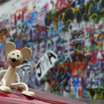 behind fred is the lennon wall