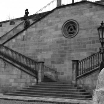 stairs just to the left of charles bridge