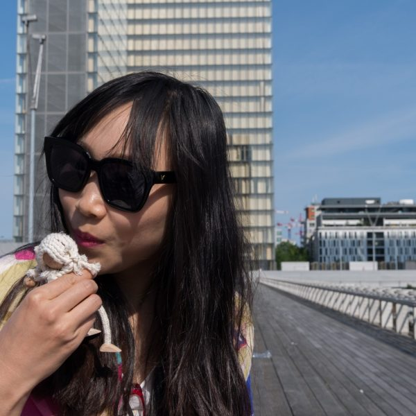 even at bnf you can meet chinese tourists: kiss from shanghai !
