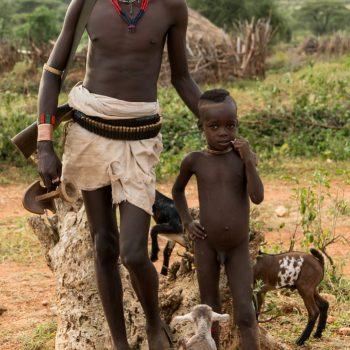 kids from ethiopia by albi-father and son