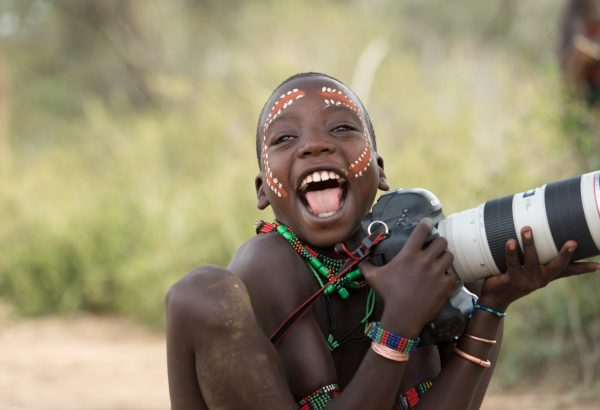 kids from ethiopia by albi: hope he is laughing about the camera