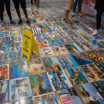 houellebecq expo at modern art with leica q