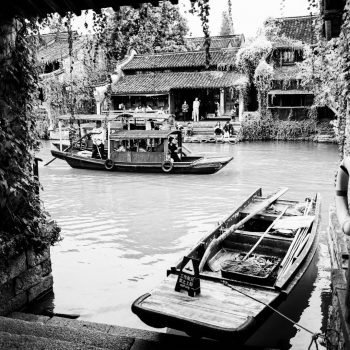 love in wuzhen, on the river