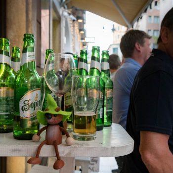 budapest = belgium: a big sea of beers..