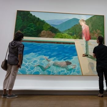 beautiful hockney paintings - summertime in paris - pictures by albi
