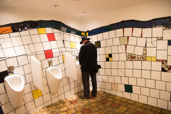 beautiful toilets-art is everywhere in vienna
